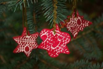 Vánoční ozdoby z odlehčené samotvrdnoucí hmoty