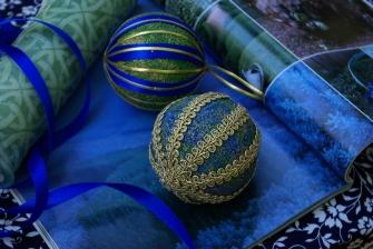 Pískované vánoční koule