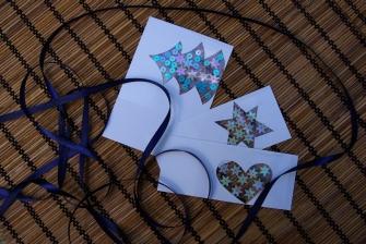 Vánoční přaní s flitry