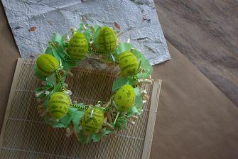 Zelený velikonoční věnec