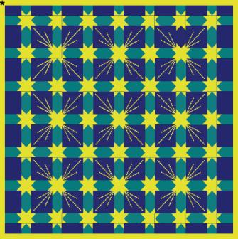 Žluté hvězdy  - modrozelená deka